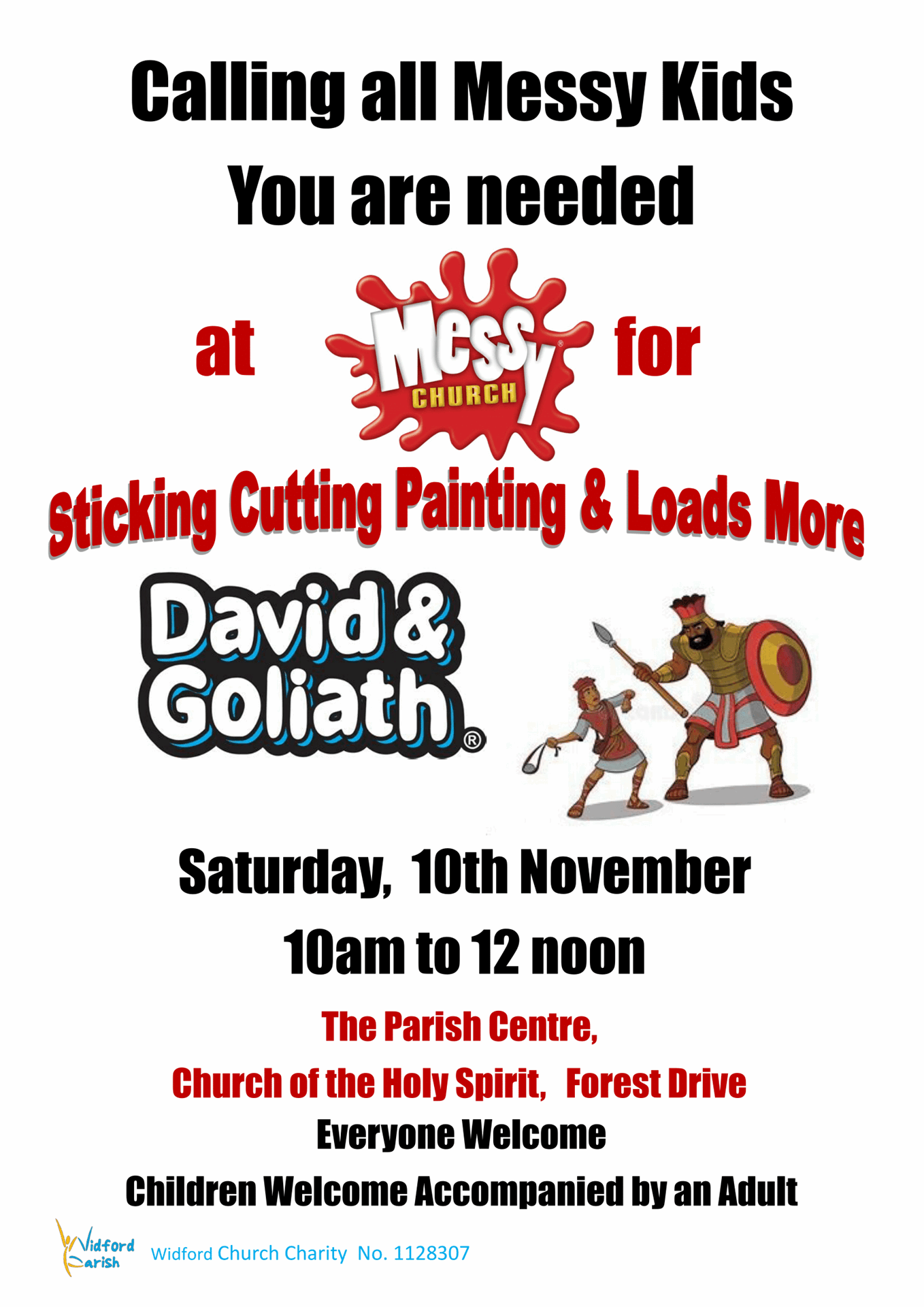 Poster Messy Church 10.11.18. A4 1